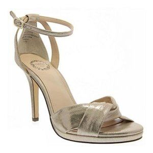I. Miller Taupe Heels with Ankle Strap